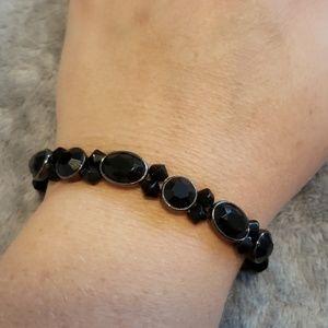 Black jeweled stretch  bracelet